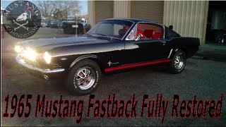 STUNNING 1965 Mustang Fastback 289 Auto in Raven Black\Red Mustang Connection