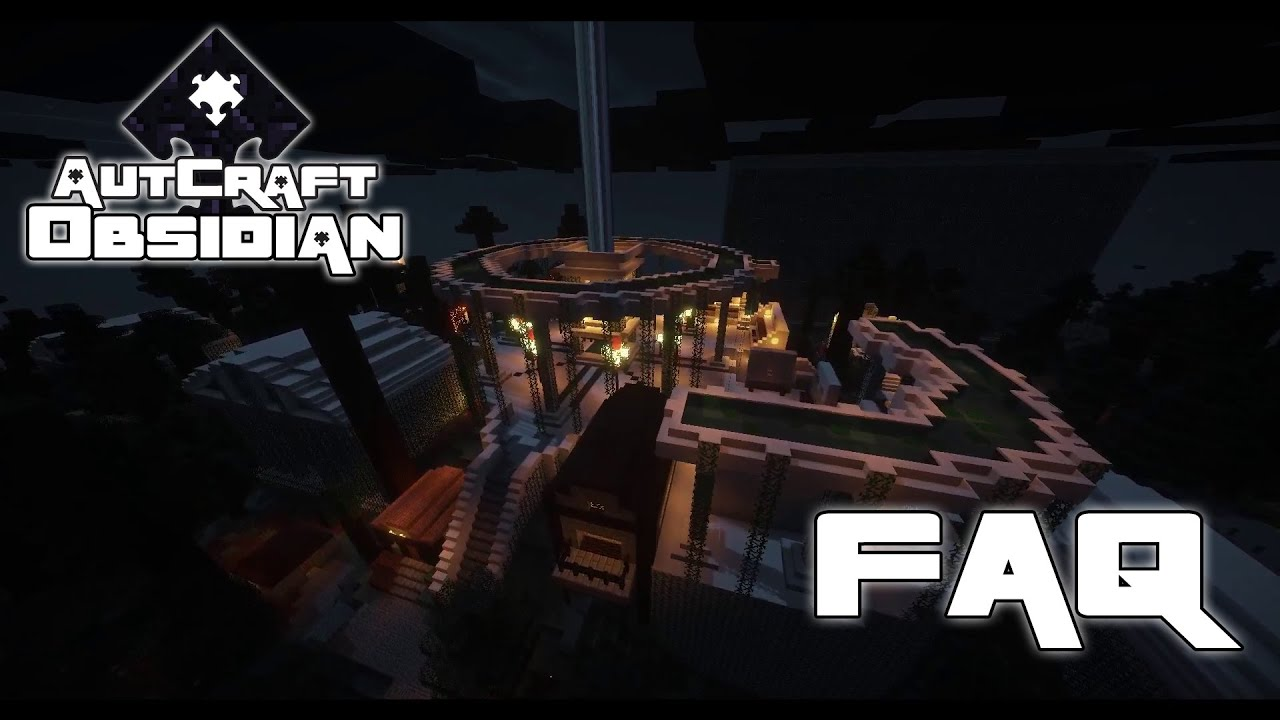 Autcraft Obsidian New Server FAQ YouTube - Minecraft bevo server erstellen