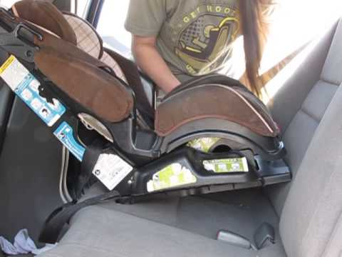 how to install a cosco safety 1st eddie bauer 3 in 1 car seat rear facing with a seatbelt youtube. Black Bedroom Furniture Sets. Home Design Ideas