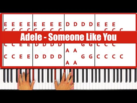 Someone Like You Adele Piano Tutorial Lesson - ORIGINAL