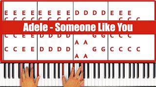 Someone Like You Adele Piano Tutorial Lesson - ORIGINAL