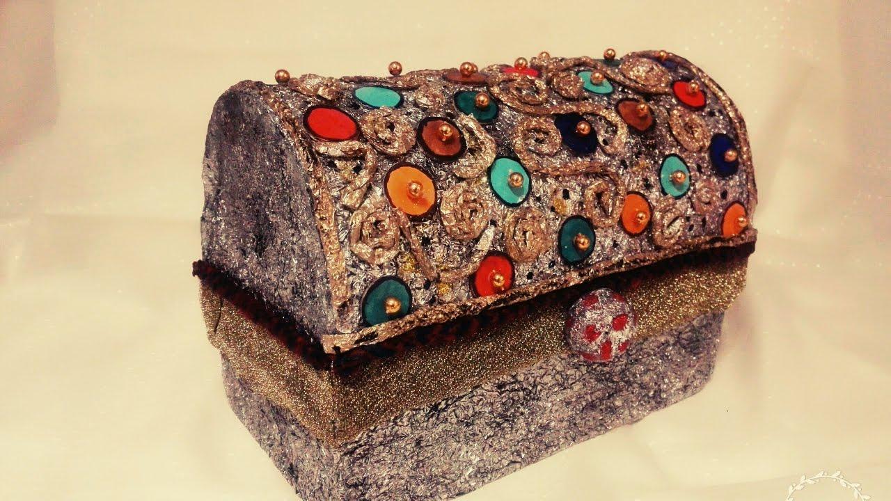 DIY craft storage box jewellery box Antique looks YouTube