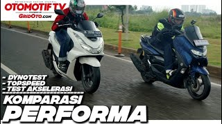 HONDA PCX 160 vs NMAX 155, KOMPARASI TOP SPEED, AKSELERASI dan DYNO l Otomotif TV