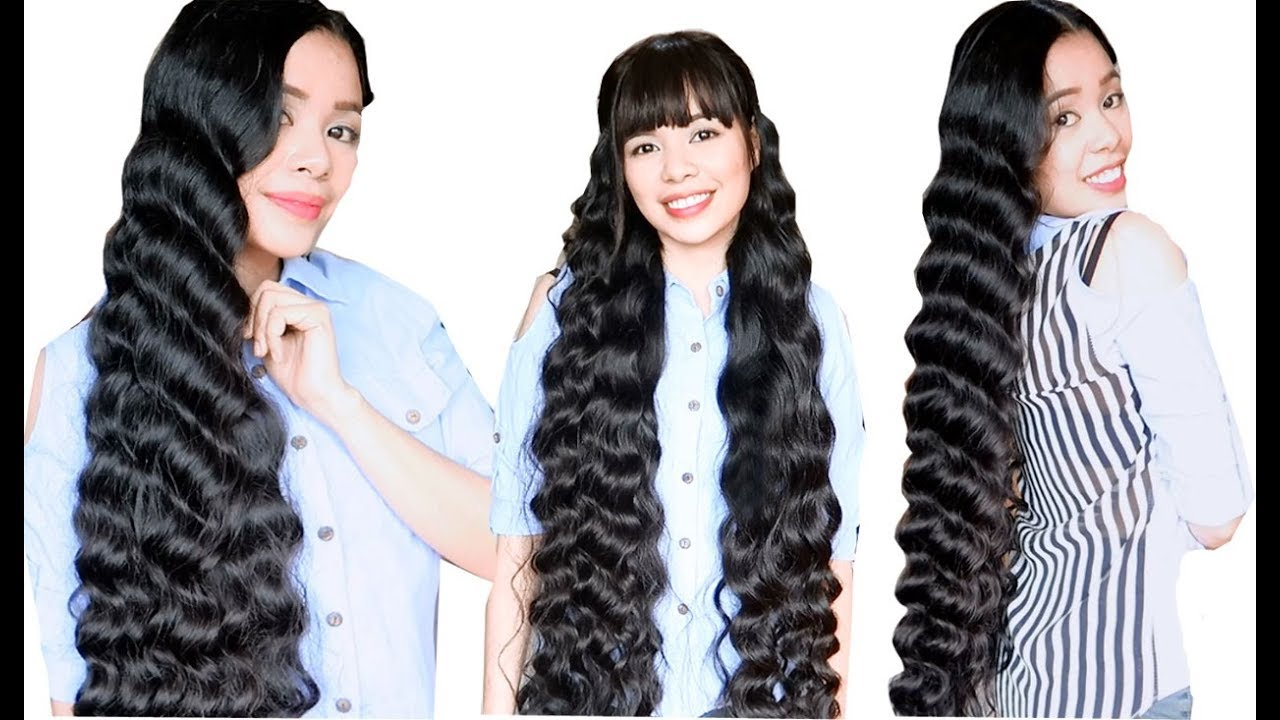 No Heat Plastic Cover Curls Heatless Korean Wavy Hair