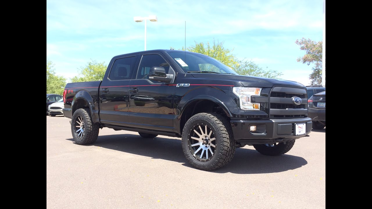 2015 ford f 150 lariat supercrew lifted walkaround youtube. Black Bedroom Furniture Sets. Home Design Ideas