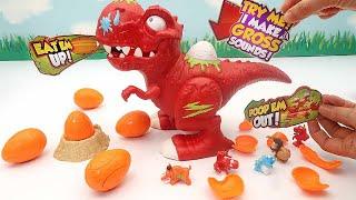Dinosaur Smashers - T-Rex Broke Dinosaur Eggs. Dino Fossil, Eggs, Zombie Dinos