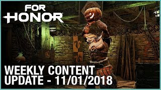 For Honor: Week 11/01/2018 | Weekly Content Update | Ubisoft [NA]