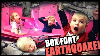 Box Fort Earthquake!! | Our BOX FORT is WRECKED!