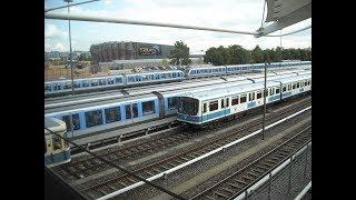 U Bahn München Haltepunkt Fröttmaning, mit Bayern (Allianz) Arena