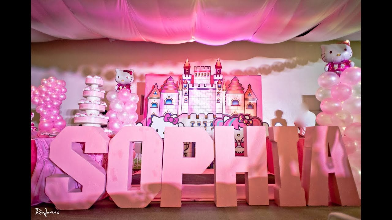 Sophia S Hello Kitty 1st Birthday At Patio De Manila Youtube
