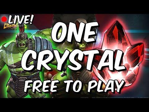 Five Star Gladiator Hulk (Ragnarok) Crystal Opening - Free To Play - Marvel Contest Of Champions