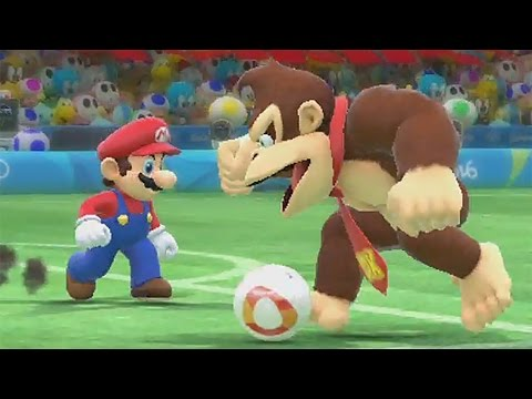 Mario & Sonic at the Rio 2016 Olympic Games (Wii U) - Football All Characters Gameplay