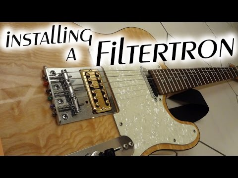 installing a Filtertron in a Tele bridge