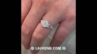 1.69 ct Hybrid Step Cut Diamond Three-Stone Engagement Ring