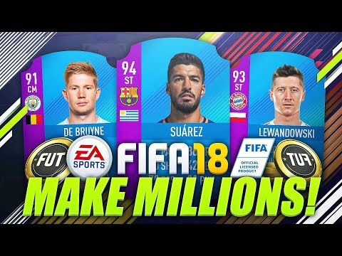 MAKE MILLIONS OF COINS EASILY WITH NO RISK! 😱 (FIFA 18 Trading & Investing Method)