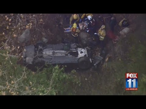 Fire Department rescues passenger after car goes over Malibu cliff