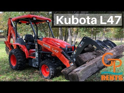 Kubota L47 with a GRAPPLE BUCKET! The Right Tool for the Job