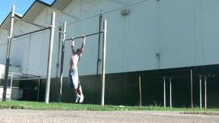 76 pull ups, dead hang, no kipping, in a row + hang recovery