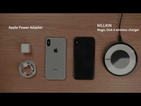 wired vs wireless charging test on iphone x nillkin. Black Bedroom Furniture Sets. Home Design Ideas
