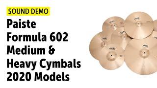 Paiste | Formula 602 | Medium & Heavy Cymbals | Sound Demo