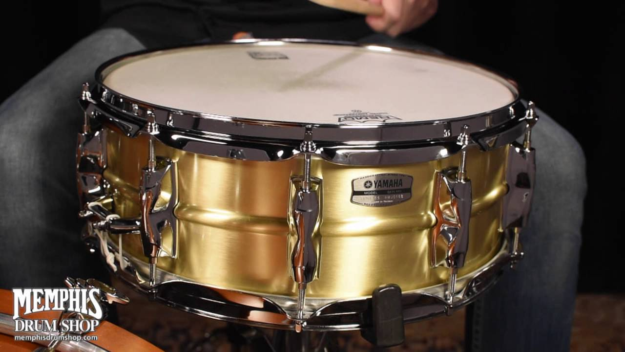 yamaha 14x5 5 recording custom brass snare drum youtube. Black Bedroom Furniture Sets. Home Design Ideas