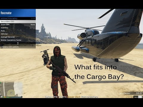 What fits into the Cargo aircrafts (Titan, Bombushka, Avenger, Cargobob) ?