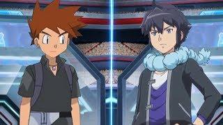 Pokemon Battle USUM: Gary Vs Alain (Pokémon Ash's Rival Face Off)