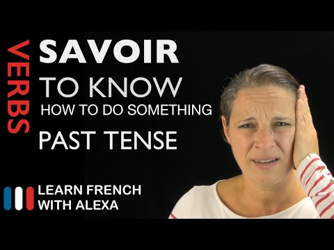 Savoir (to know / know how to do something) — French verb conjugated by in the past tense
