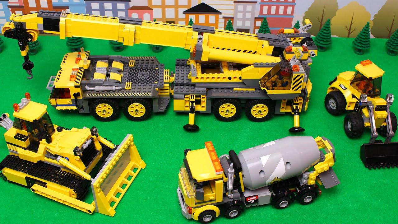 Lego Bulldozer Concrete Mixer Dump Truck Crane
