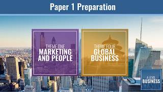 Edexcel A Level Business Paper 1 Preparation