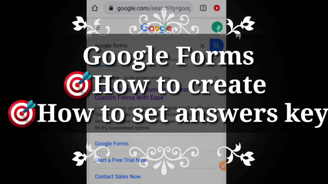 Answer key for Google form : A video about how to Create # ...
