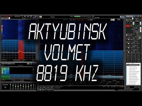 Aktyubinsk Volmet, Aircraft weather information - 8819 kHz