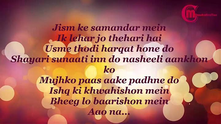 tumhe apna banane ka  full song with lyrics  by monash creation
