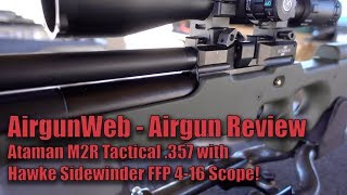 Ataman M2R Tactical Olive in .35 Caliber, Getting over 150 FPE with cast! - Review by AirgunWeb