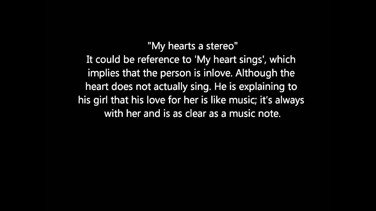 'Stereo Hearts' Figurative Language Analysis Metaphors