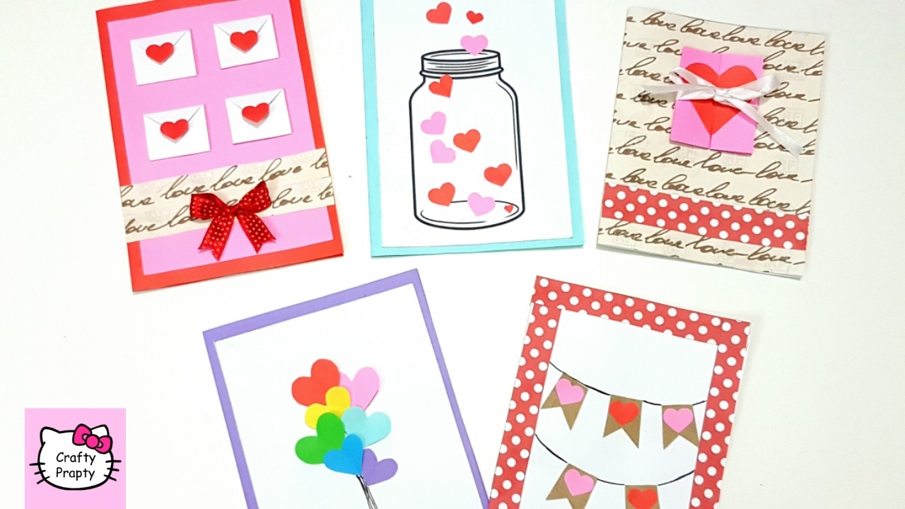 Diy How To Make Valentines Day Greeting Card5 Cute Easy Greeting