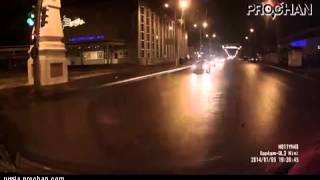 T-bone collision / ДТП на перекрестке Video