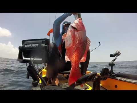 Epic Giant Red Snapper Kayak Fishing - Panama City Beach
