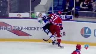 Лучшие силовые регулярного сезона 2013-2014 / KHL Top 10 hits of 2013/2014 regular season