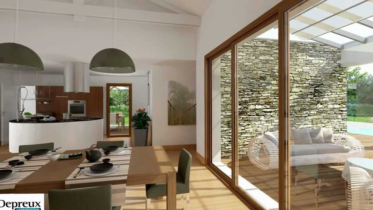 Visite 3d interactive d 39 une maison depreux construction for Decoration interieur maison 90m2