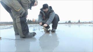 Рыбалка в Рождество ч 2 Ловим щуку на Жерлицы 2020г
