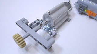 LEGO Gearbox Motor DIY with TAMIYA 72001 Planetary Gearbox Set