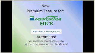 Mekorma check printing and EFT solution for Dynamics GP
