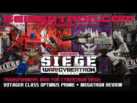 Transformers War for Cybertron Siege Optimus Prime + Megatron In-Hand Reviews and more!!!
