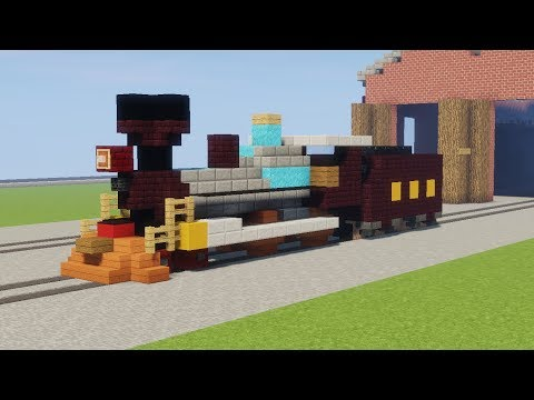Minecraft American 4-4-0 Steam Locomotive Tutorial!!