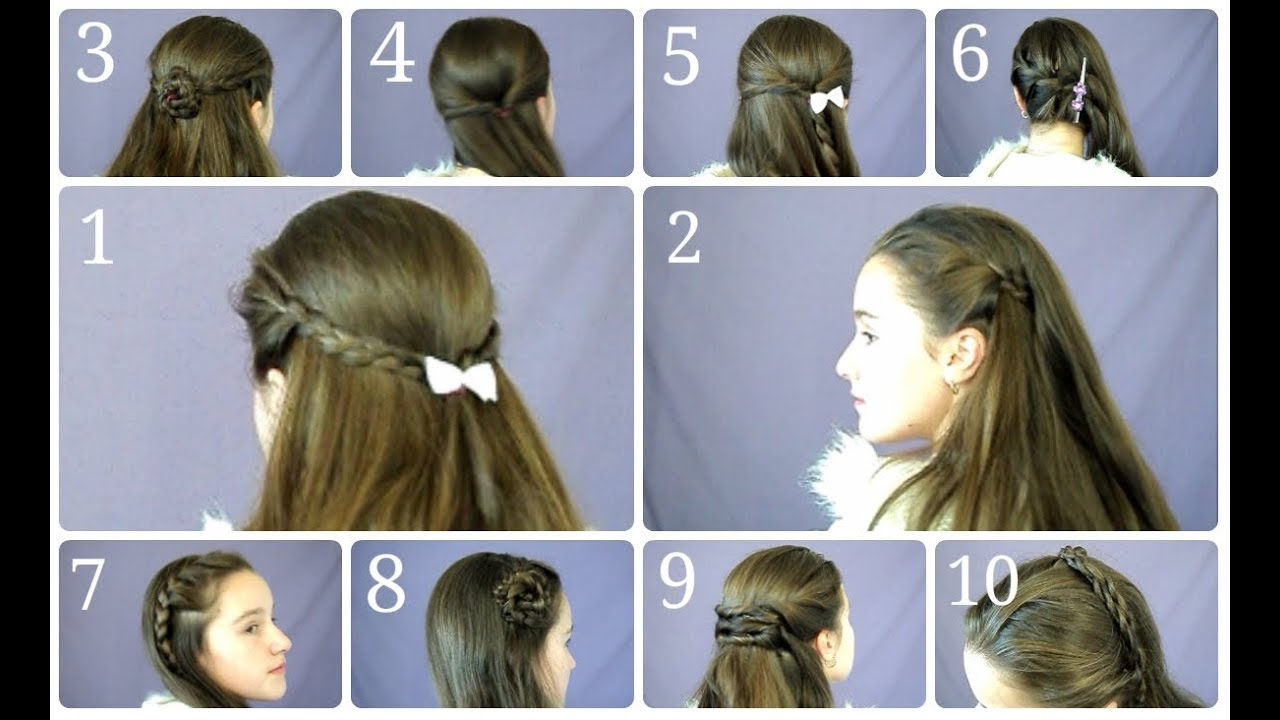 10 Easy & Simple Half Up Hairstyles for Everyday - YouTube