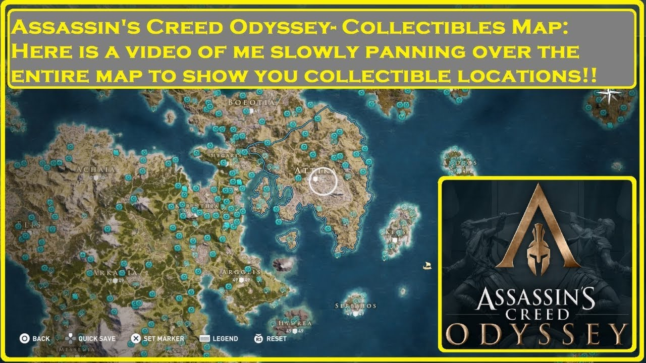 Assassin S Creed Odyssey Collectibles Map Youtube