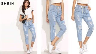 SHEIN Women Summer Pants Casual Denim Jeans Review | Best Jeans For Women Fashion 2018