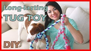 How to make a long-lasting tug toy for your dog   Easy Tutorial   dog sewing project