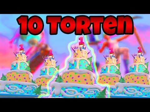 Fortnite: Tanze vor verschiedenen Geburtstagskuchen! | (10 Kuchen) | Fortnite Battle Royale